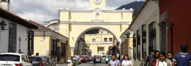 La Calle del Arco será el espacio donde se desarrollarán varias actividades durante las fiestas de fin de año. (Foto Prensa Libre: Julio Sicán)