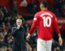 Rashford anotó doblete en el triunfo del Manchester United. (Foto Prensa Libre: EFE)