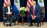 Bukele fue el único presidente latinoamericano en mantener una reunión bilateral con Trump en la pasada Asamblea General de la ONU. (Foto Prensa Libre: EFE)