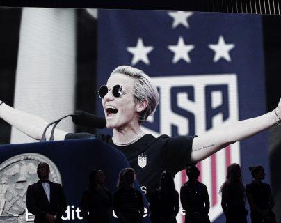 Rapinoe es la principal figura de la Selección de Estados Unidos. (Foto Prensa Libre: EFE)