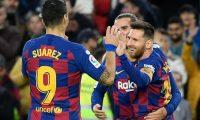 Lionel Messi quiere que su equipo continúe primero para pelear La Liga. (Foto Prensa Libre: AFP)