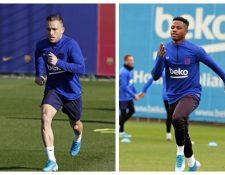 Arthur y Ansu Fati no estarán disponibles para enfrentar al Mallorca. (Foto Prensa Libre: Twitter @FCBarcelona_es)