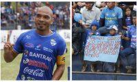Janderson Pereira celebró el gol del triunfo, aunque abandonó el partido por lesión. (Foto Prensa Libre: José Sierra)