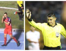 El árbitro Raúl Gamarro fue señalado por su desempeño en el Clásico 309. (Foto Prensa Libre: Franciscó Sánchez)