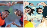 Rudy Barrientos y Harim Quezada celebraron como Gokú y Vegeta. (Foto Prensa Libre: Cortesía de Ronal Mota)