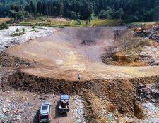 Los trabajos de ampliación y ordenamiento en el basurero municipal iniciaron en el 2017. (Foto Prensa Libre: Cortesía)