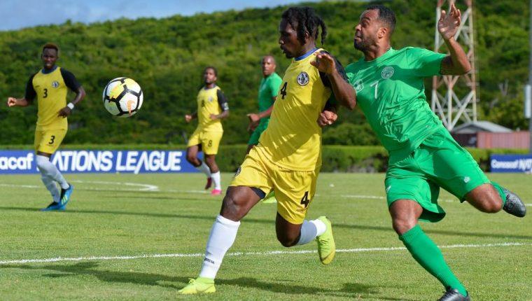 James Daley (4), jugador de Montserrat. (Foto Prensa Libre: Concacaf)