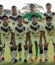 """Los futbolistas Sub 17 del América hicieron una parodia de la protesta feminista """"Un violador en tu camino"""". (Foto Prensa Libre: @Notigram)"""