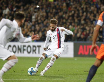 Neymar, durante el partido de este sábado. (Foto Prensa Libre: Twitter @PSG_espanol)