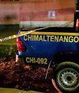 Agentes de la Policía Nacional Civil recaban evidencia en el lugar del ataque. (Foto Prensa Libre: Cortesía)