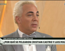 Cristian Castro cuenta sobre la discordia que existe entre entre él y Luis Miguel. Foto tomada del programa de PH de Telefe.