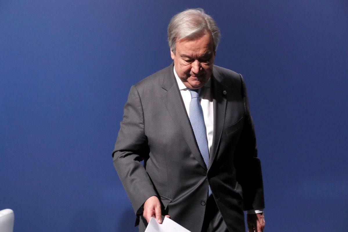 """Antonio Guterres: """"Estoy decepcionado con los resultados de la COP25"""""""