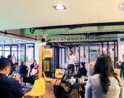 En el área de amenidades presentaron el nuevo edificio Duo. Foto Prensa Libre: Cortesía