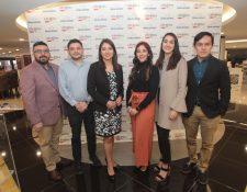 Ejecutivos de Grupo Unicomer y LifeMiles dieron a conocer la alianza entre ambas empresas. Foto Prensa Libre: Norvin Mendoza