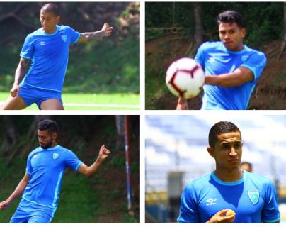 Ellos son los seleccionados más sobresalientes en el 2019 ´para la Concacaf. Stheven Robles, Alejandro Galindo, Danilo Guerra y Marvin Ceballos. (Foto Prensa Libre: Luis López)