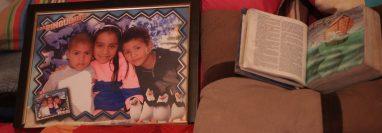Jimena aparece enuna fotografía junto a sus hermanos, la familia vive en Mixco, Guatemala. (Foto Prensa Libre: Carlos Hernández)