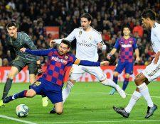 Lionel Messi no pesó en el clásico español, en el Camp Nou. (Foto Prensa Libre: AFP)