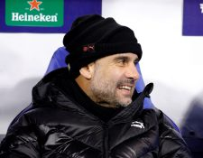 Pep Guardiola, técnico del Manchester City. (Foto Prensa Libre: EFE)