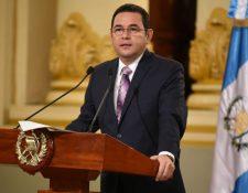 Jimmy Morales durante una actividad en el Palacio Nacional de la Cultura. (Foto Prensa Libre:  Gobierno de Guatemala).