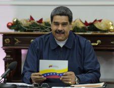 Nicolás Maduro ha insinuado que este año hubo una recuperación de la economía en Venezuela. (Foto Prensa Libre: EFE)