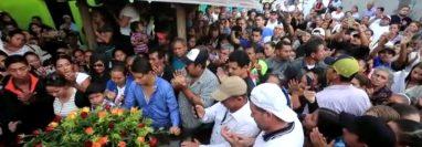 Manolito castillo fue muerto en el Centro de Rehabilitación Pavón, Fraijanes, el domingo último e inhumado este viernes en el cementerio de Jutiapa. (Foto Prensa Libre: Juan Diego González)
