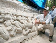 Una frisa gemela de La Danta, en el sitio arqueológico el Mirador, y cuyas dimensiones la colocan como la pirámide más grande del mundo. (Foto Hemeroteca PL)