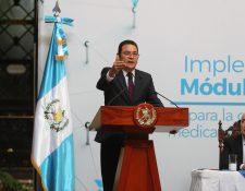 El presidente Jimmy Morales sancionó las reformas al Código Procesal Penal (Foto Prensa Libre: Hemeroteca PL)