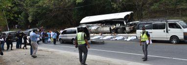 El choque enluta decenas de hogares a días de la Navidad. (Foto Prensa Libre: Hemeroteca PL)