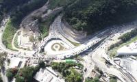 Vista aèrea del paso a desnivel Cuatro Caminos. (Foto: Municipalidad de Guatemala).