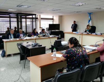 Sala donde se llevó a cabo la audiencia contra los implicados en el caso Semuy 2. (Foto Prensa Libre: Edwin Pitán).