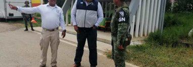 Cónsul de Guatemala en Comitán de Domínguez, Chiapas, visitó un puesto de control de Migración en frontera con Guatemala. (Foto Prensa Libre: Cortesía)