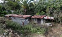 GU2001. SACATEPÉQUEZ (GUATEMALA), 24/09/2019.- Vista de una casa fabricada con lámina y madera, sin servicio de agua potable, el 20 de septiembre de 2019, en San Martín, Sacatepéquez (Guatemala). Sin agua ni baño. Así son las casas de los pobres más pobres en Guatemala, uno de los países más desiguales del mundo. Estas viviendas, como la de Isaías y su mujer Silvia, son la muestra de la pobreza que no se quiere ver. Una letrina a la orilla de un barranco, a 100 metros de su hogar, y el agua que recogen de la lluvia o de un nacimiento en un bosque cercano suplen unas necesidades básicas de las que carecen casi la mitad de los guatemaltecos, como evidenciaron los datos del último censo poblacional y de vivienda.EFE/Esteban Biba