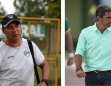 Mauricio Tapia y Fabricio Benítez tendrán una batalla particular. (Foto Prensa Libre: Carlos Vicente)