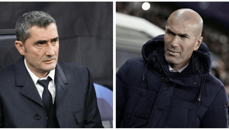El duelo entre Ernesto Valverde y Zinedine Zidane determinará qué pasará en La Liga: Foto Prensa Libre: EFE y AFP)