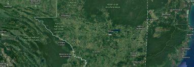 La aeronave se localizó a pocos kilómetros de la frontera con México. (Foto Prensa Libre: Google Maps)