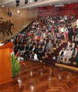 El cardenal Ramazzini se refirió a la corrupción en una conferencia ofrecida frente a los directivos del IGSS. (Foto Prensa Libre: IGSS)