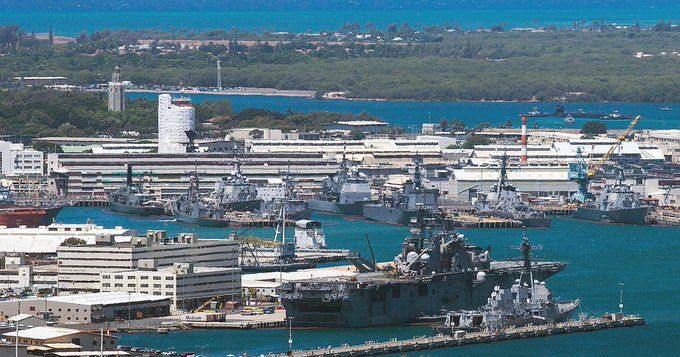 Base naval de Pearl Harbor en Hawái. (Foto Prensa Libre: CBS News).