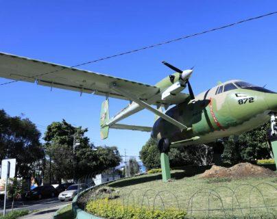 El avión de construcción israelí Aravá fue utilizado, principalmente, para la lucha contrainsurgente en los años 80. (Foto Prensa Libre: AGN)