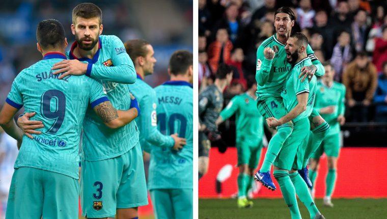 Barcelona y Real Madrid se enfrentarán luego de empatar en los juegos previos frente a la Real Sociedad y el Valencia, respectivamente. (Foto Prensa Libre: Hemeroteca PL)