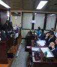 Audiencia de primera declaración del caso Arca en el que cinco detenidos el 30 de octubre de 2019 escuchan la declaración grabada en video de Eduardo José Liu Yon, colaborador eficaz de la Fiscalía. (Foto Prensa Libre: Juan Diego González)