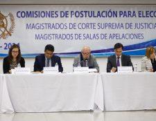 Las comisiones de postulación integraron las nóminas de los abogados que serán electos como magistrados de la Corte Suprema de Justicia y salas de Apelaciones. (Foto Prensa Libre: Hemeroteca PL)