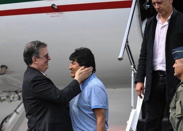 El expresidente de Bolivia Evo Morales cuando llegó a México en Noviembre. (Foto Prensa Libre: AFP)