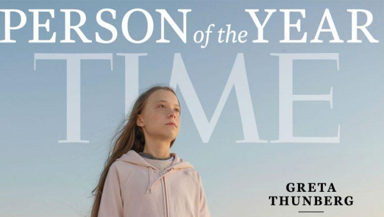 Greta Thunberg lucha contra el cambio climático. (Foto Prensa Libre: Time)