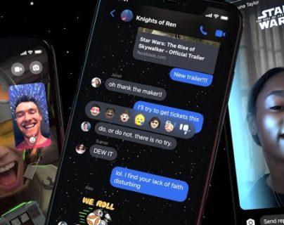 """""""Star Wars"""" se incorpora a las redes sociales. (Foto Prensa Libre: Messenger Facebook)"""