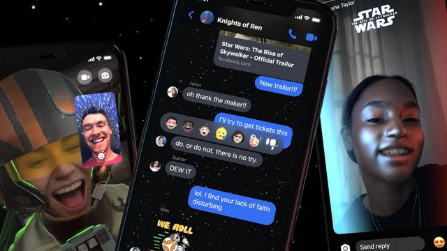 La fuerza de Star Wars llega a Messenger con un tema, filtros y reacciones
