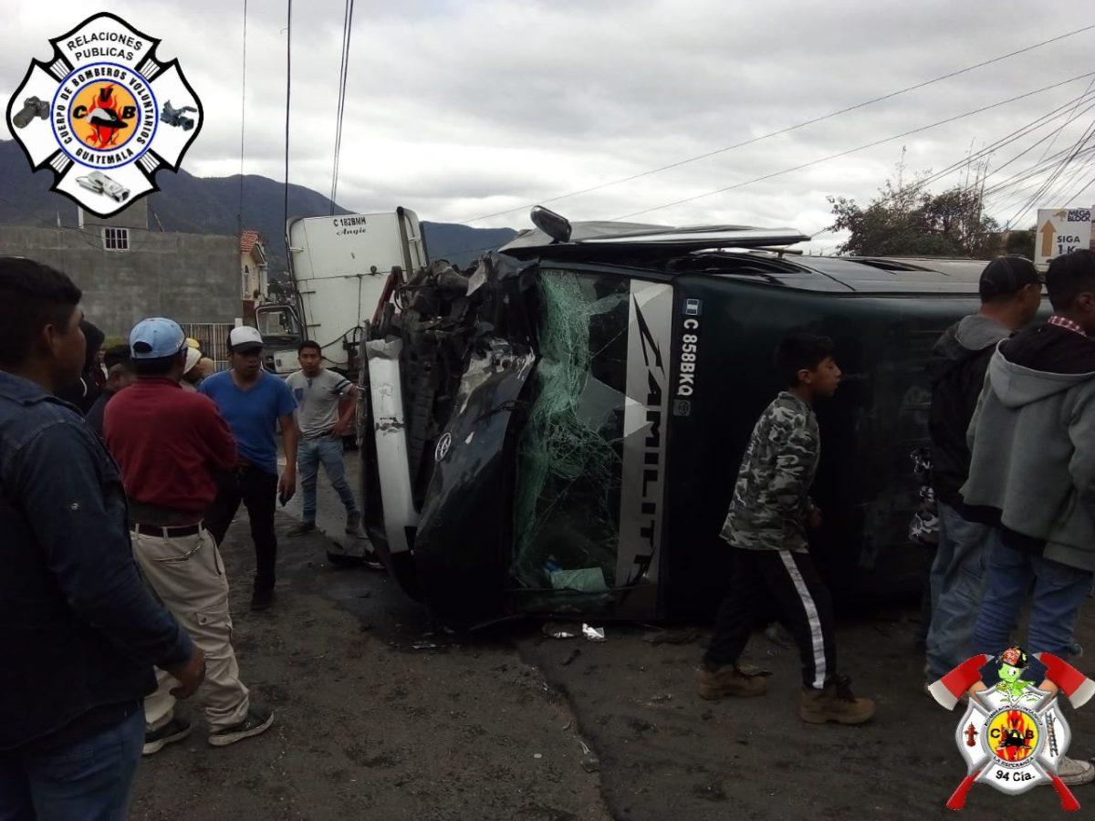 13 personas heridas en accidente en km 209 ruta que conduce de Xela a San Marcos
