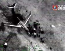 Esta narcoaeronave se detectó sobre el área de la Guajira y aterrizó en Laguna del Tigre. (Imagen de plataforma de vigilancia aérea)