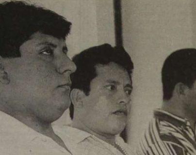 Aníbal Archila Pérez -izquierda- murió por diabetes el 16 de julio de 1999. (Foto Prensa Libre: Hemeroteca PL)