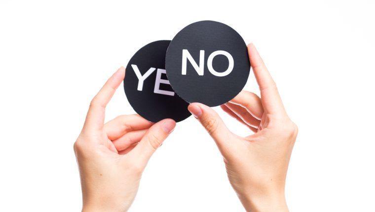 No tenemos la obligación de decir que sí a todo. (Foto Prensa Libre: Servicios).