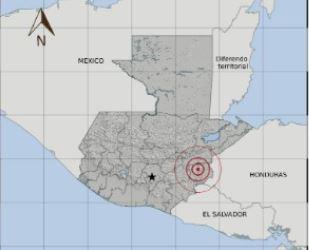 El sismo ocurrió en Chiquimula.